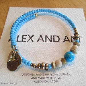 Ale & Ani Turquoise and Wooden beads wrap